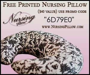 New Mama FREEBIE: nursing pillow
