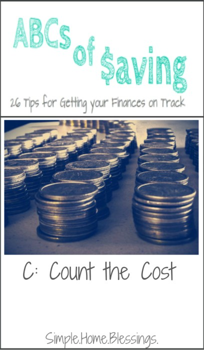 ABCs of Saving - Count the Cost