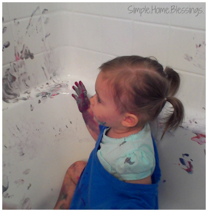 Messy Play Toddler Activity for Decorating Easter Eggs