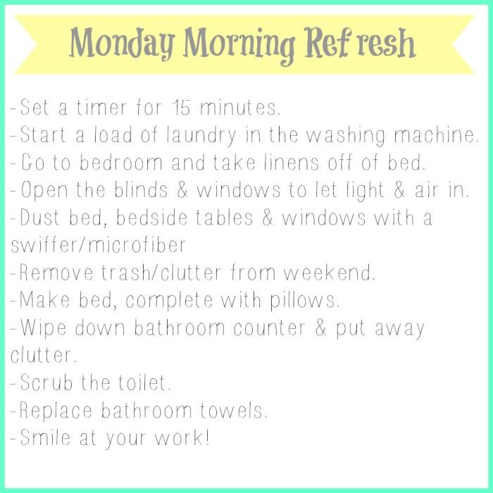 Monday Morning Refresh