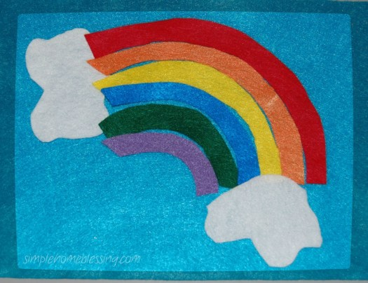 rainbow felt puzzle