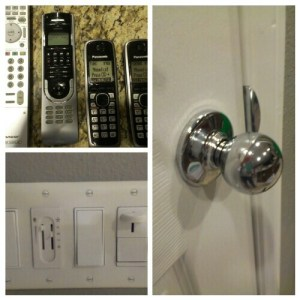 knobs, switches, phones clean