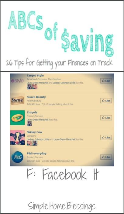 ABCs of Saving - Facebook It
