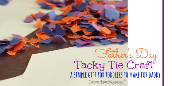 tacky tie for Father's Day - a simple craft for tots