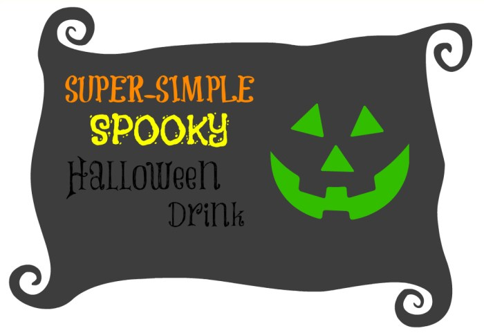 Super Simple Spooky Halloween Drink