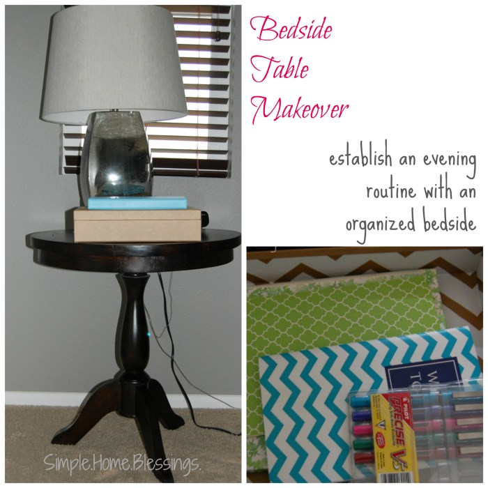Bedside Table Makeover