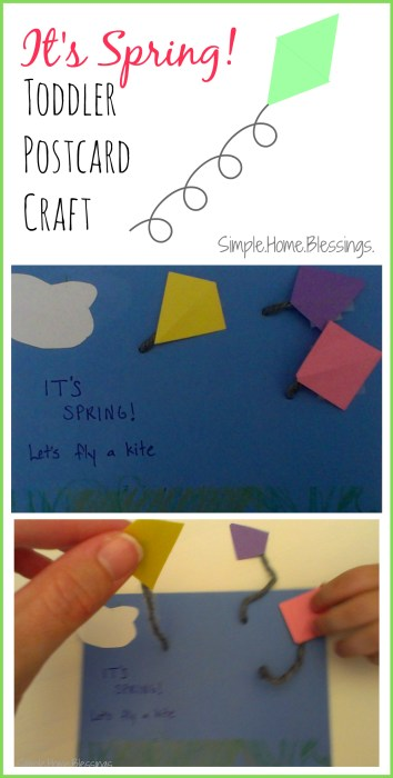 It's Spring! Toddler postcard craft