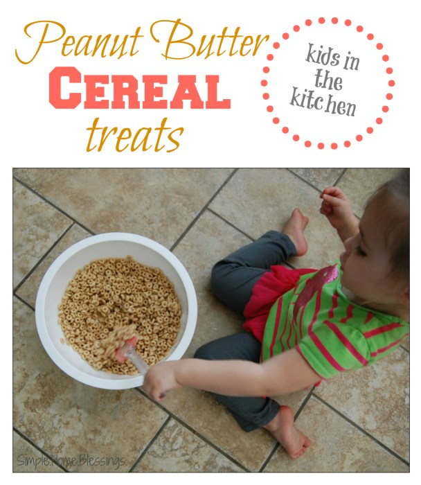 Kids in the Kitchen Peanut Butter Cereal Bars
