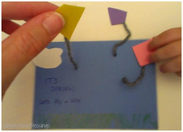 Toddler Craft It's Spring Flying Kite Postcard