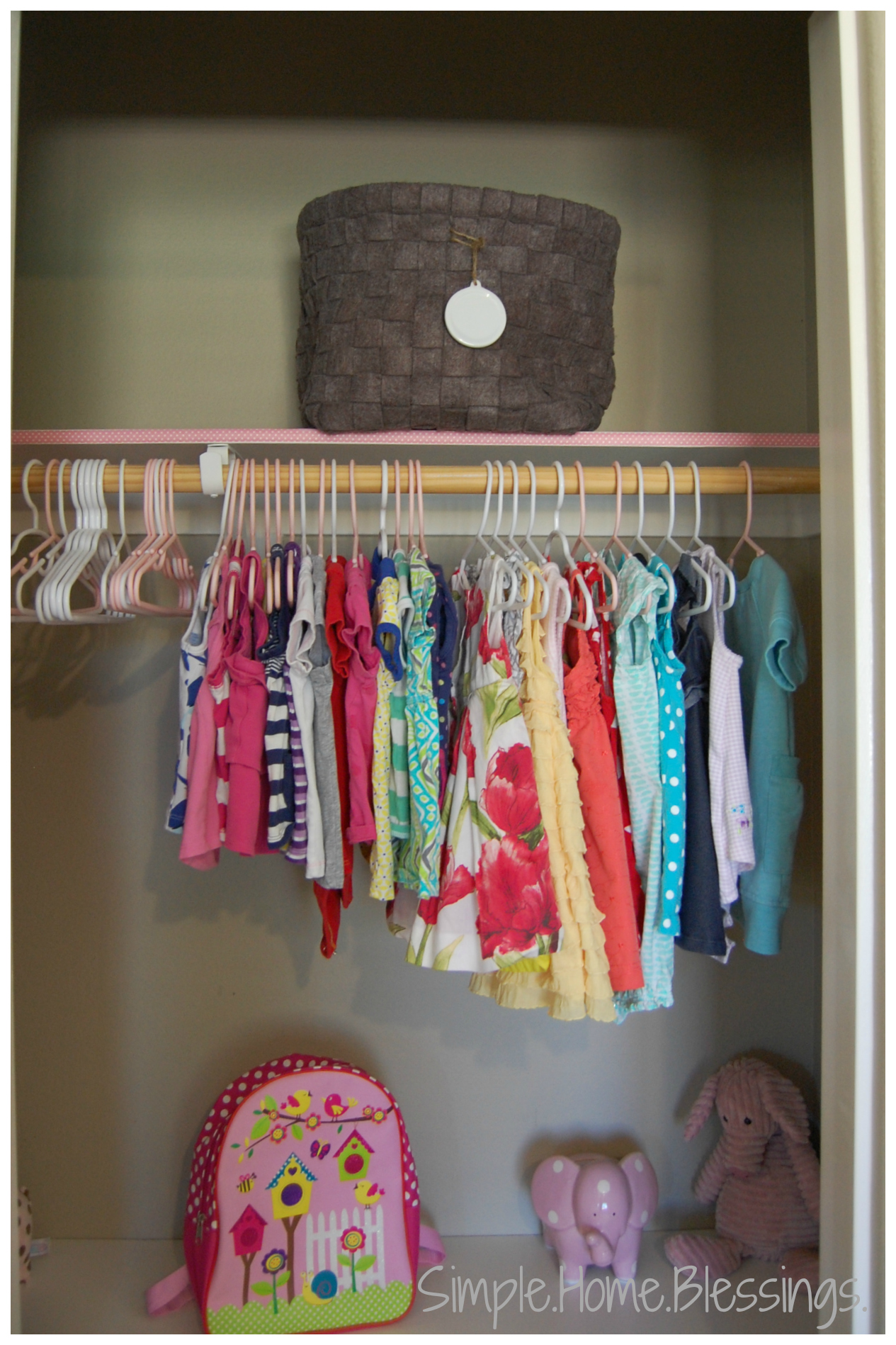 Girls Shared Closet Makeover Reveal   Top Right