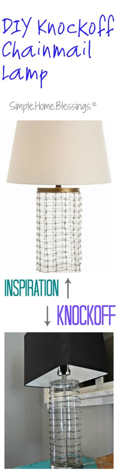 DIY Chainmail Lamp