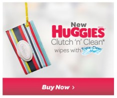 Huggies Clutch 'n' Clean wipes