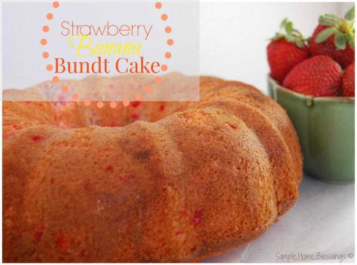 Strawberry Banana Bundt Cake