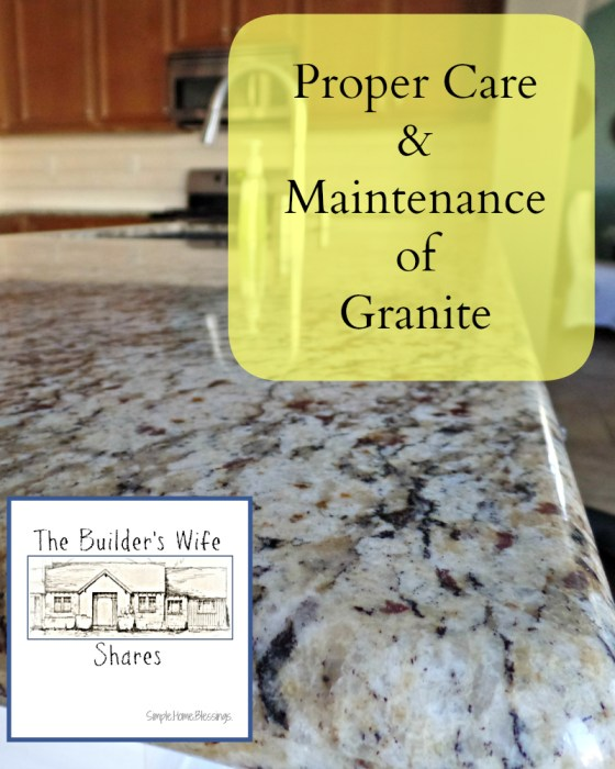 in depth tutorial to teach proper care and maintenance of granite surfaces