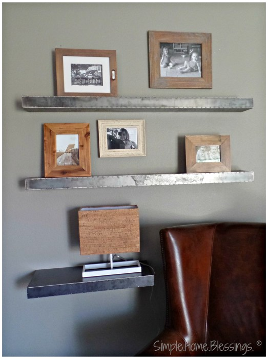 create a layered look for shelves, step 2