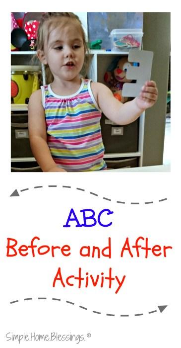 Simple Alphabet Sequencing Activity for preschoolers