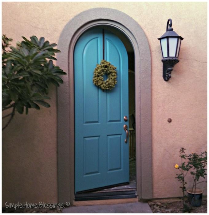 Entryway Makeover, blue door