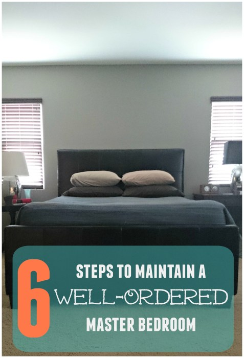 6 steps to maintain a well-ordered bedroom