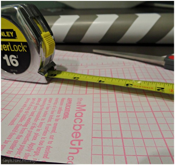 Contact Paper hanging tips - measure and measure again
