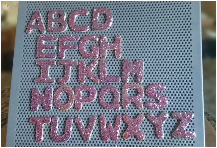 DIY Glitter Alphabet magnets - a simple tutorial