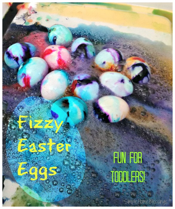 Fizzy Easter Egg activity for tots