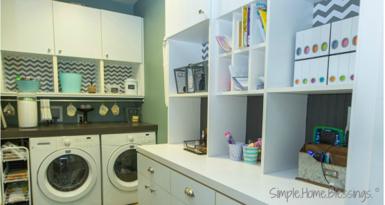 Laundry Rom Make-over Reveal -a simple redecorating project