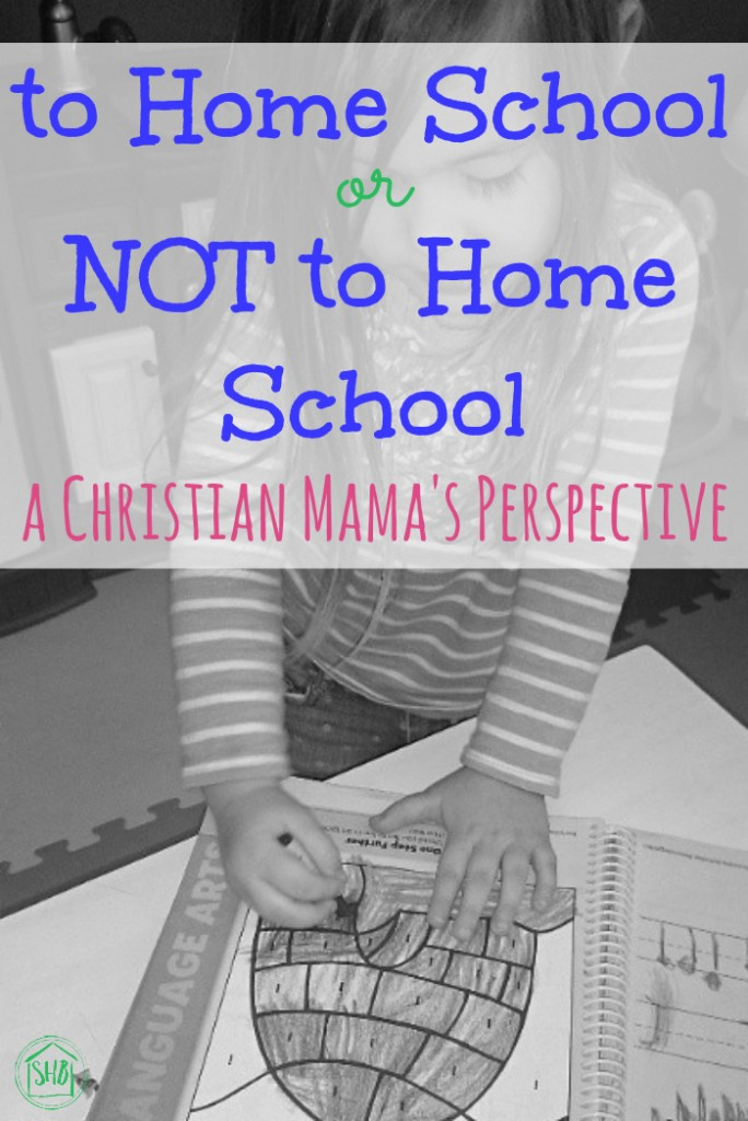 to Homeschool or Not to Homeschool - a Christian mom's thoughts on this important schooling decision