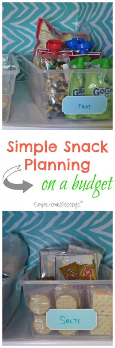 Simple Snack Planning on a budget - get ready for back to school with easy to reach snacks for little hands