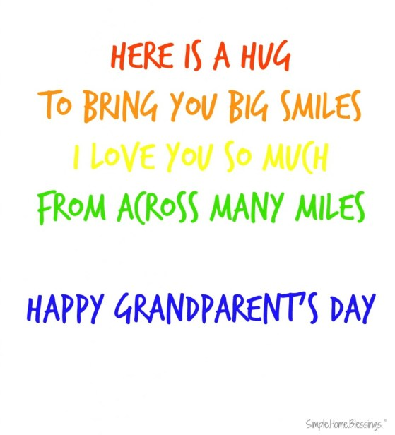 Grandparent's Day craft and poem for preschoolers