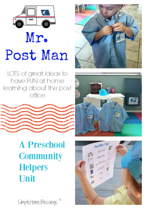 Preschool Community Helpers Unit Mail Man