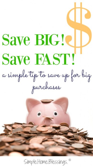 a super simple way to save up for big purchases