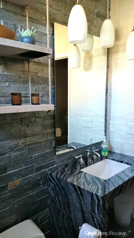 Industrial Inspired Bathroom Makeover Reveal