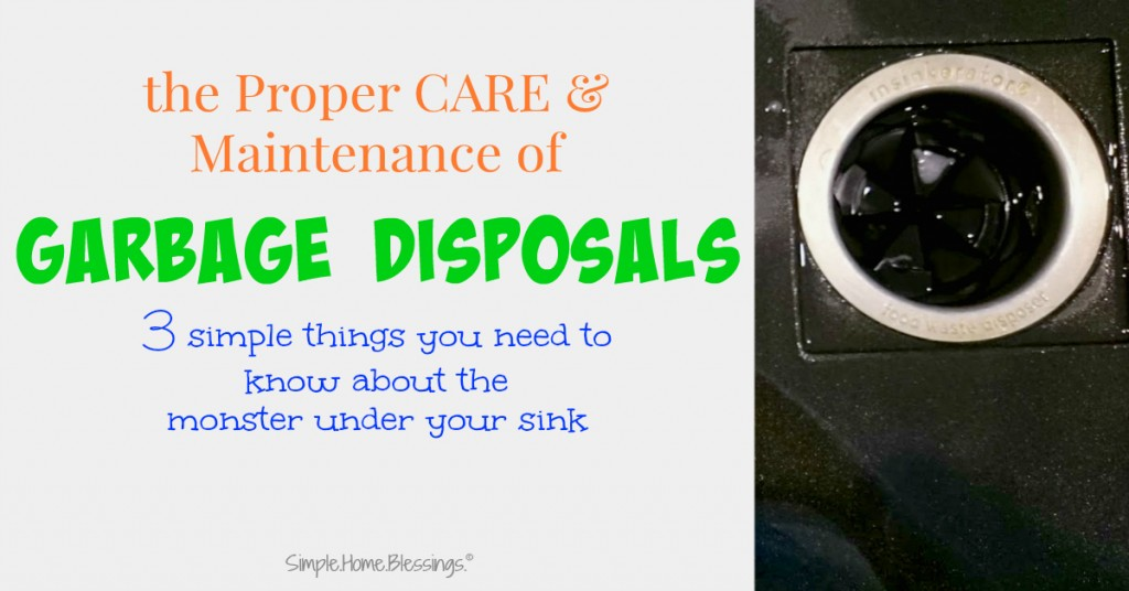 a simple tutorial for proper care and maintenance of garbage disposals
