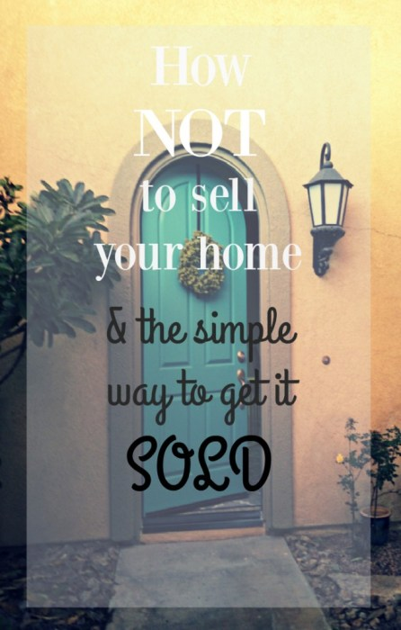 The simple way to sell a home.  This person tried and failed to sell her home by herself.  Here's what she did to sell her home and why it worked.