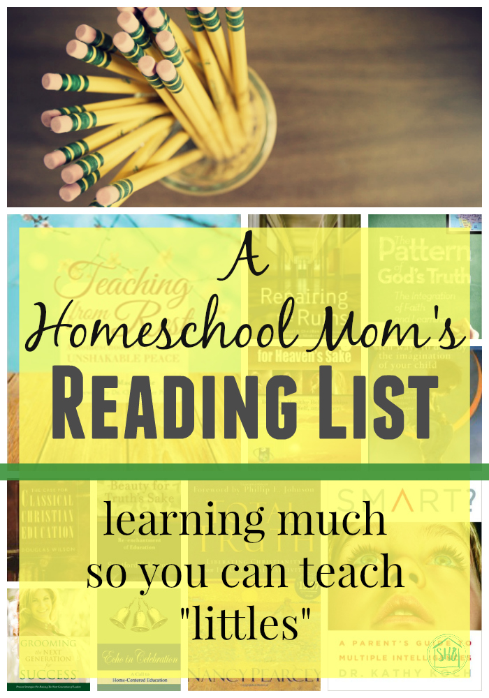 Homeschooling with Peace, a homeschool mama's reading list for the school year