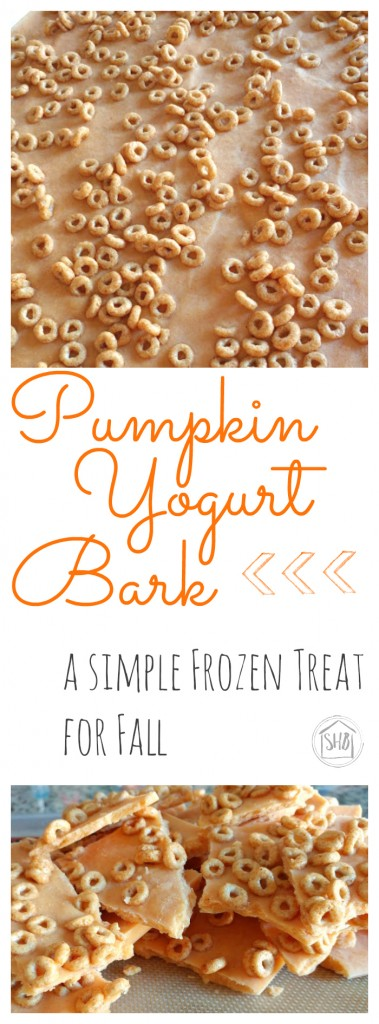Pumpkin Yogurt Bark - a perfect fall treat from the freezer