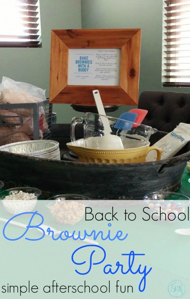 A Back to School Brownie baking Party - an after school activity. This post has lots of tips for hosting a successful after school party.