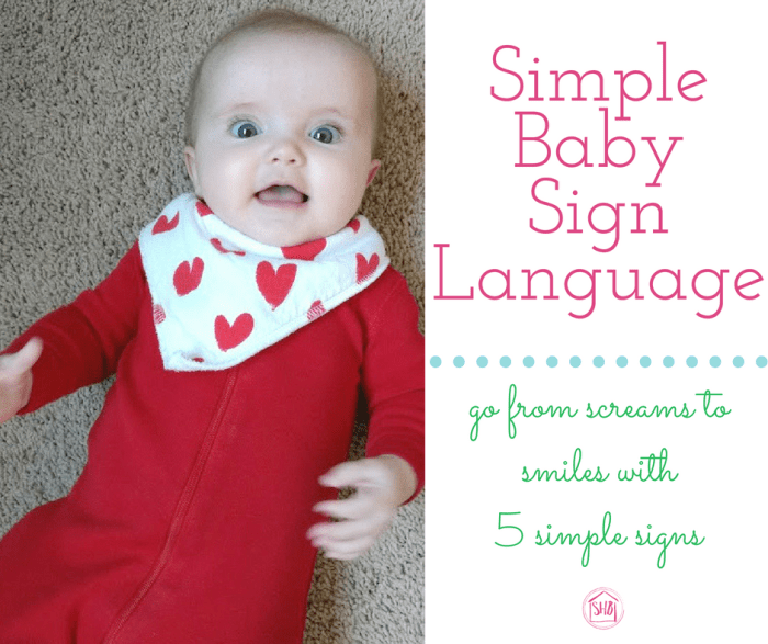 Super simple Baby sign language. Communicate with baby with these 5 signs that are life-changing!