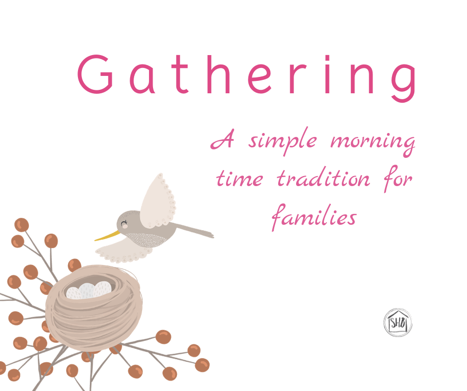 Gathering - morning time place mats for your kids. Finally get to the art study, hymns, and Bible memory work you have been wanting to get to, effortlesslessly.