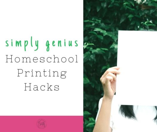 Homeschooling?  Feel like a genius with these simple printing tips.