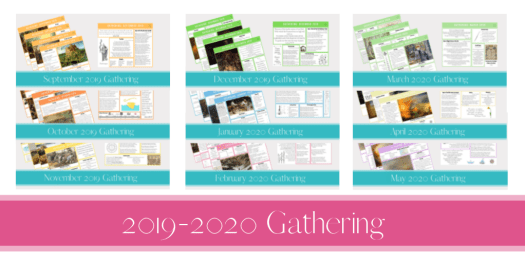 2019-2020 Gathering Placemats
