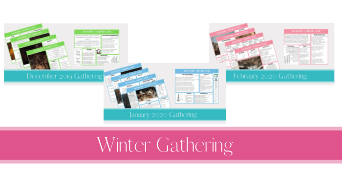 Winter 2019 Gathering Placemats