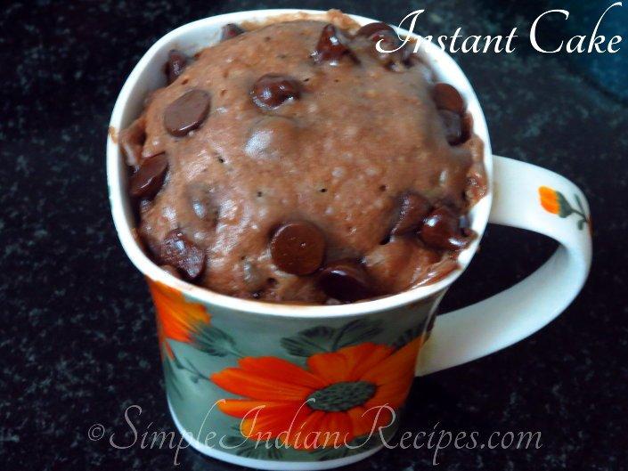 2 minute cake instant cake in a mug