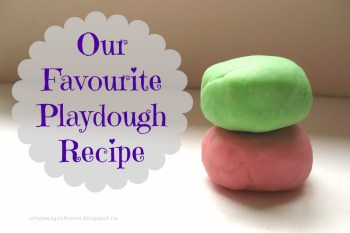 Our Favourite Playdough Recipe