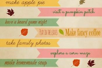 31 Days of Autumn {Day 2}: Autumn Bucket List