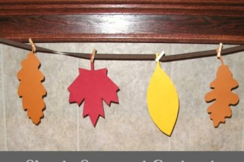 31 Days of Autumn {Day 8}: Simple Seasonal Garland