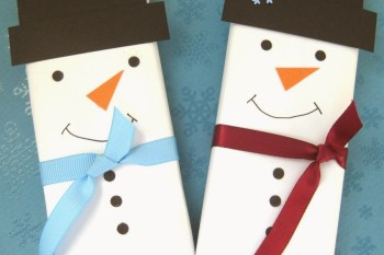 Homemade Holiday: Snowman Chocolate Bar