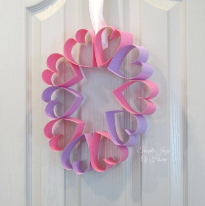 Simple Joys Of Home: Papercraft Heart Wreath