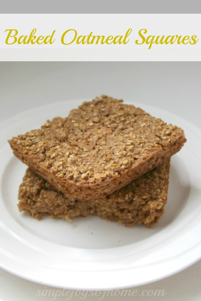 Baked Oatmeal Squares
