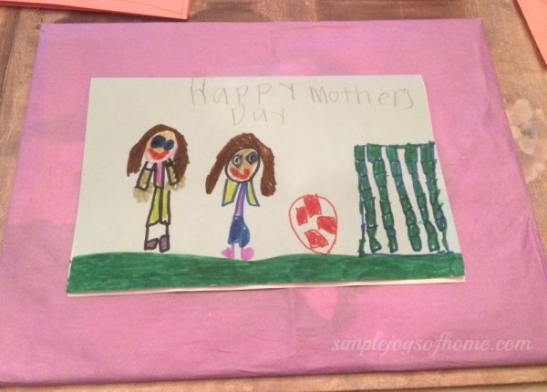 Mother's Day card from Miss C